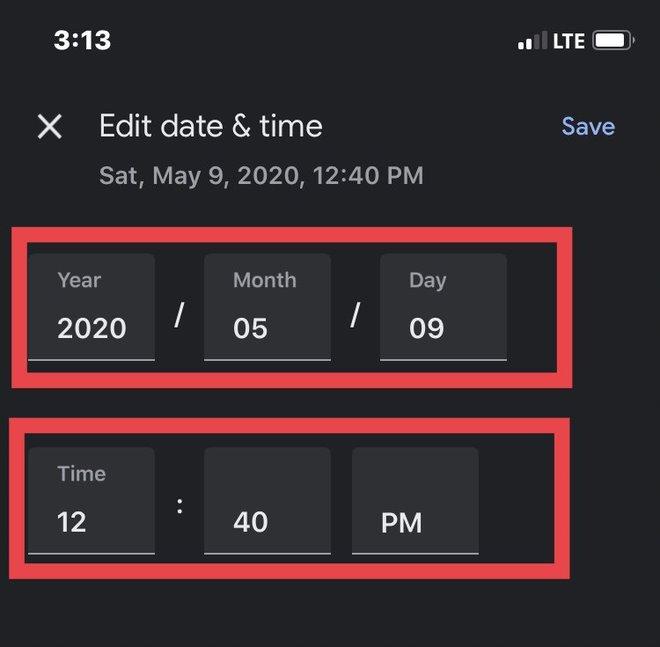 Google Photos allows you to change date/time photo metadata